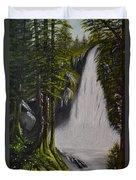 Misty Waterfall Duvet Cover