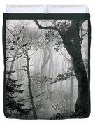Misty Woods, Juniper Duvet Cover