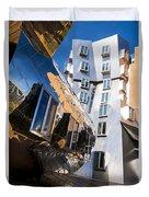 Mit Stata Center Cambridge Ma Kendall Square M.i.t. Reflection Duvet Cover