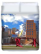 Mit Stata Center Cambridge Ma Kendall Square M.i.t. Sculpture Duvet Cover