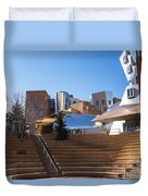 Mit Stata Center Cambridge Ma Kendall Square M.i.t. Staircase Duvet Cover