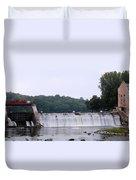 Mitchell Iowa Dam Duvet Cover
