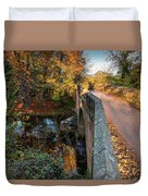 Mitford Bridge Over River Wansbeck Duvet Cover