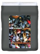 Mix Of Shoes Nyc Duvet Cover