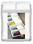 Mixed Fresh Herbs In Kitchen Interior Duvet Cover