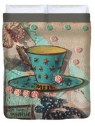Mixed Media - Coffee Cup  Duvet Cover