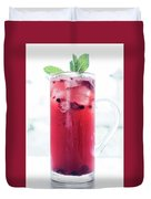 Mixed Red Berries And Wine Sangria Cocktail Jug Duvet Cover