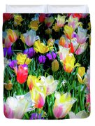 Mixed Tulips In Bloom  Duvet Cover