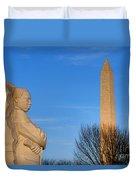 Mlk And Washington Monuments Duvet Cover