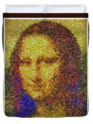 Mm Candies Mona Lisa Duvet Cover
