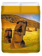 Moai Duvet Cover