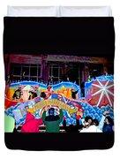 Mobile Mardi Gras Duvet Cover