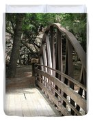 Mocha Colored Walking Bridge In American Fork Canyon Utah Duvet Cover