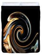 Mocha Swirl Duvet Cover
