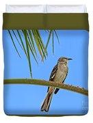 Mockingbird In A Palm Tree Duvet Cover