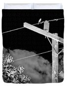 Mockingbird On A Wire Duvet Cover