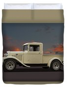 Model A Ford Truck Duvet Cover