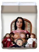 Model With Porcelain Dolls Duvet Cover