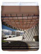 Modern Architecture Of Ismaili Centre Entrance With Aga Khan Mus Duvet Cover