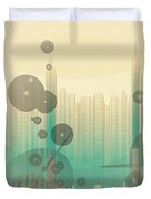 Modern City Abstract Duvet Cover