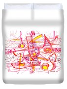 Modern Drawing Eighty-three Duvet Cover