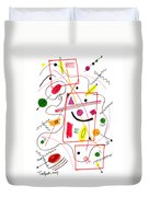 Modern Drawing Fifty-six Duvet Cover