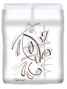 Modern Drawing Sixty-seven Duvet Cover