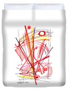 Modern Drawing Thirty-nine Duvet Cover
