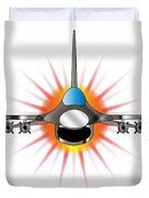 Modern Jet Fighter Duvet Cover