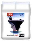 Modern Mobile Mighty Navy Duvet Cover