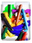Modern Rainbow Art Duvet Cover