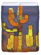 Modern Saguaro - Red Duvet Cover