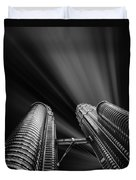 Modern Skyscraper Black And White Picture Duvet Cover