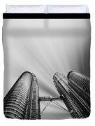 Modern Skyscraper Black And White  Duvet Cover