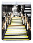 Modern Subway Steps In London Canary Wharf District Duvet Cover