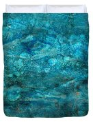 Modern Turquoise Art - Deep Mystery - Sharon Cummings Duvet Cover