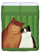 Moggies Duvet Cover by Magdolna Ban