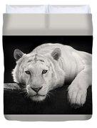 Mohan The White Tiger Duvet Cover
