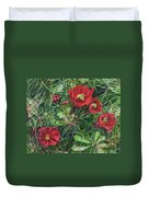 Mohave Mound Cactus Duvet Cover