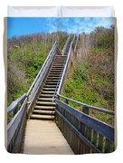 Mohegan Bluffs Rhode Island Duvet Cover