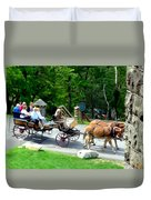 Mohonk Carriage Tour Duvet Cover