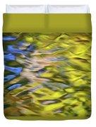 Mojave Gold Mosaic Abstract Art Duvet Cover