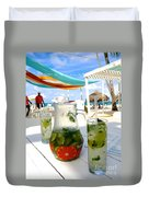 Mojitos On The Beach- Punta Cana Duvet Cover
