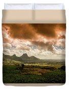 Moka Mountains Duvet Cover