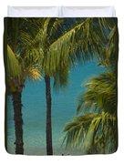 Mokapu Beach Senior Couple Duvet Cover