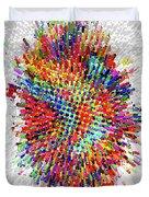 Molecular Floral Abstract Duvet Cover