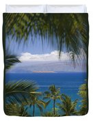 Molokini And Kahoolawe In Distance Duvet Cover