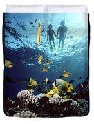 Molokini Snorkeling Couple Duvet Cover