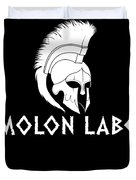 Molon Labe Spartan Warrior Helmet Duvet Cover