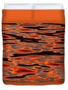 Molten Golden Waters Of The Upper Niagara Duvet Cover
